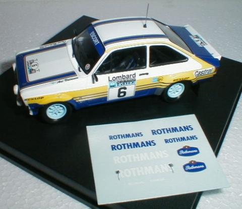 Trofeu 1017 Ford Escort Mk Ii Rac Rally 1978-Roger Clark 1//43 Escala