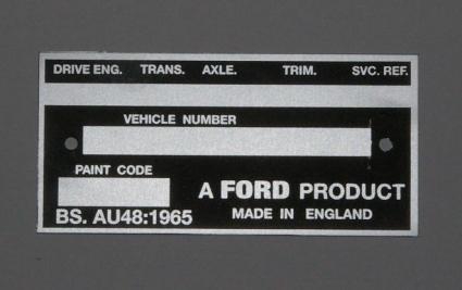 Help with VIN plate - mk2 - MK1 & MK2 ESCORTS - Old Skool Ford